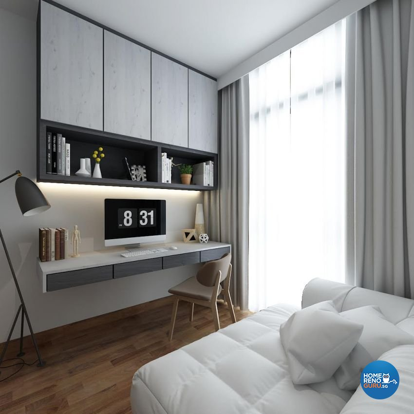 Contemporary, Modern, Scandinavian Design - Study Room - Condominium - Design by The Mind Design Pte Ltd
