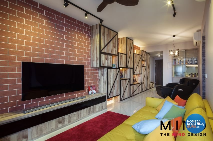 Eclectic, Industrial, Modern Design - Living Room - Condominium - Design by The Mind Design Pte Ltd