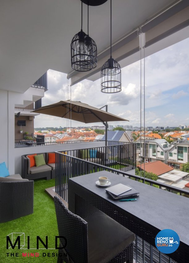 Eclectic, Industrial, Modern Design - Balcony - Condominium - Design by The Mind Design Pte Ltd