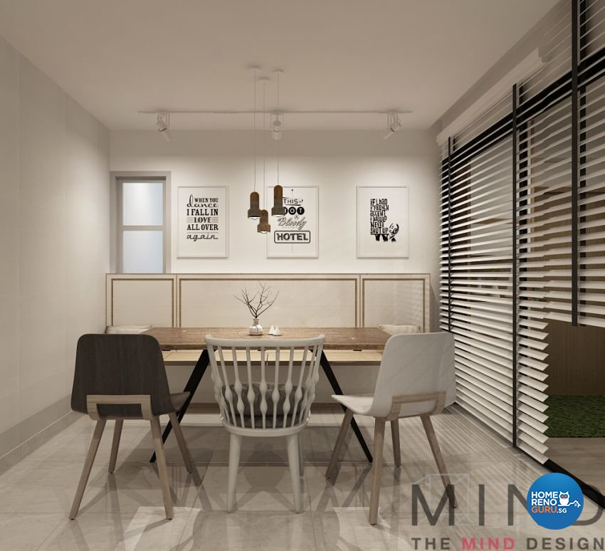 Contemporary, Modern, Scandinavian Design - Dining Room - Condominium - Design by The Mind Design Pte Ltd