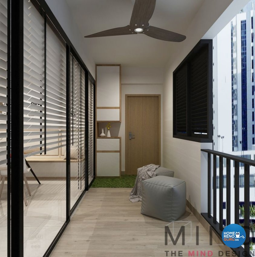 Contemporary, Modern, Scandinavian Design - Balcony - Condominium - Design by The Mind Design Pte Ltd