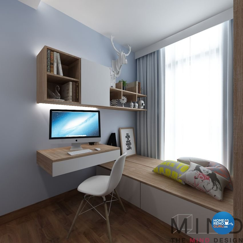 Contemporary, Modern, Scandinavian Design - Study Room - Condominium - Design by The Mind Design Pte Ltd