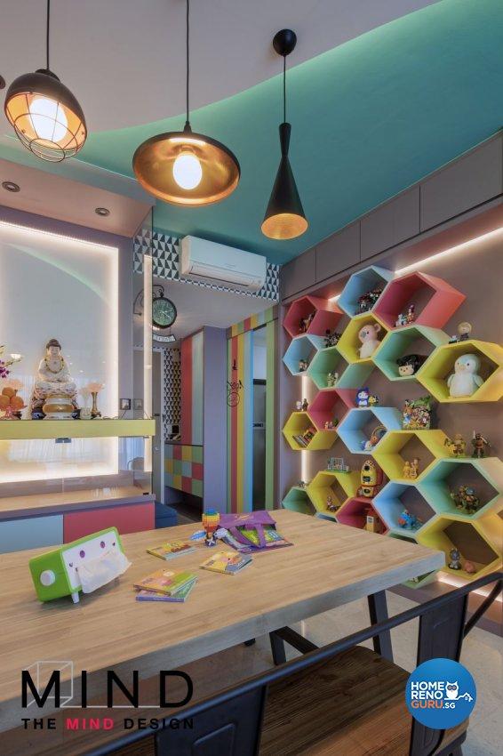 Contemporary, Eclectic, Retro Design - Dining Room - Condominium - Design by The Mind Design Pte Ltd
