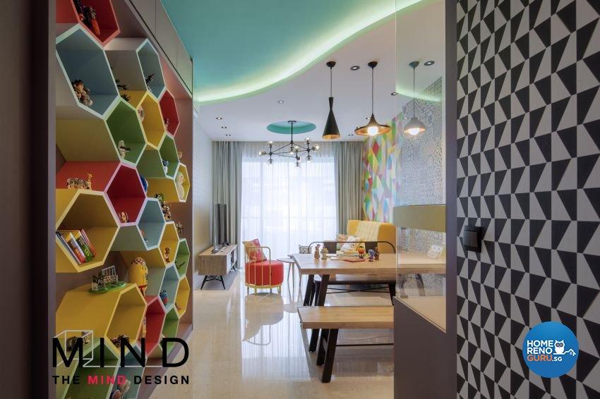 Contemporary, Eclectic, Retro Design - Living Room - Condominium - Design by The Mind Design Pte Ltd