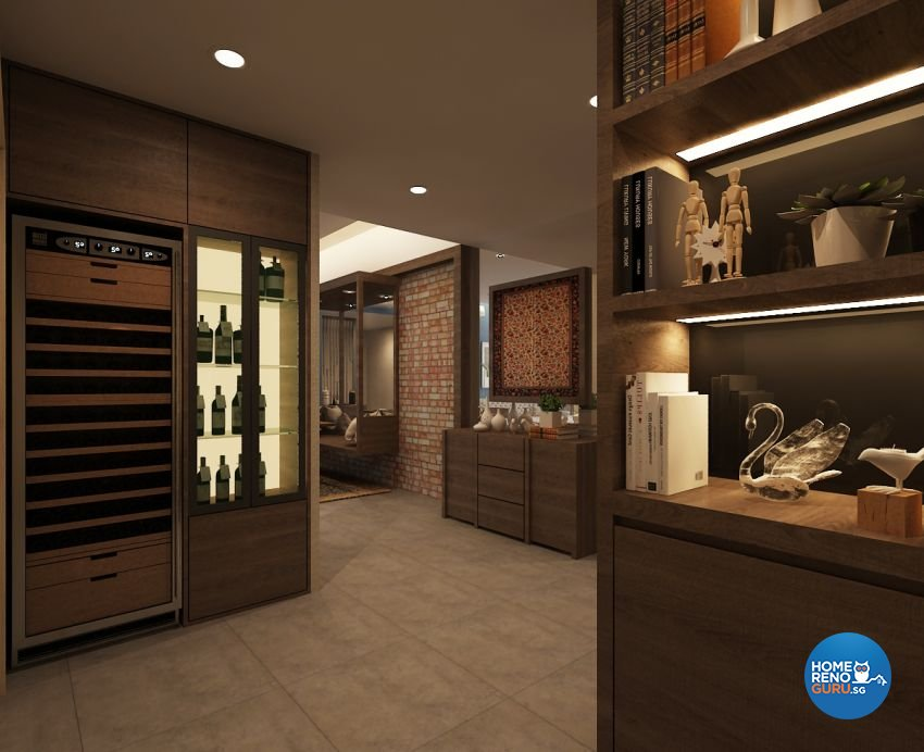 Contemporary, Modern, Scandinavian Design - Entertainment Room - Condominium - Design by The Mind Design Pte Ltd