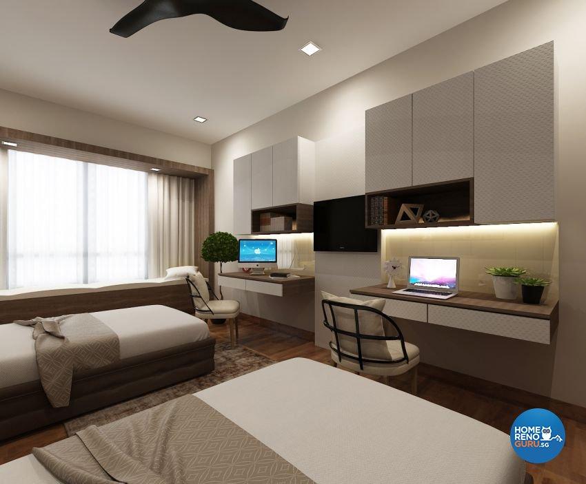 Contemporary, Modern, Scandinavian Design - Bedroom - Condominium - Design by The Mind Design Pte Ltd