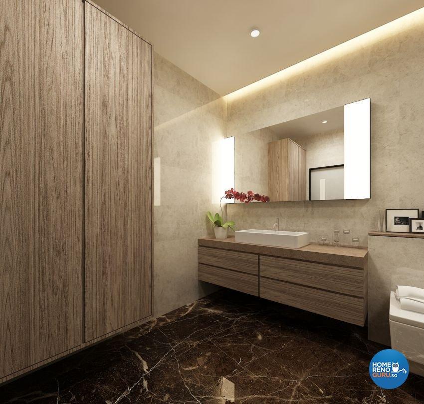Contemporary, Modern, Scandinavian Design - Bathroom - Condominium - Design by The Mind Design Pte Ltd