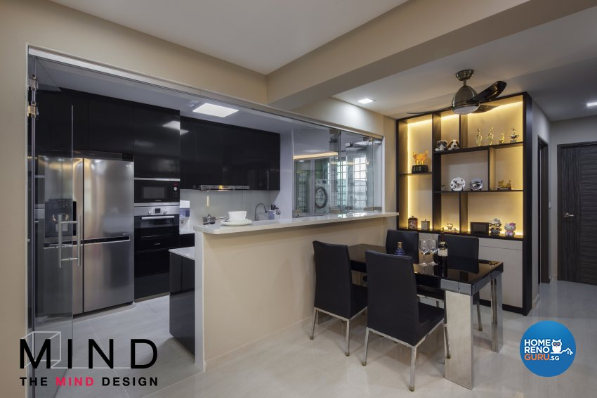 Contemporary, Modern Design - Dining Room - HDB 5 Room - Design by The Mind Design Pte Ltd