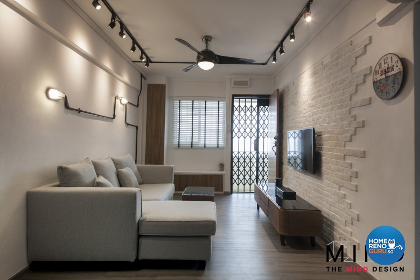 Nice Industrial, Scandinavian Design   Living Room   HDB 3 Room   Design By The  Mind Part 9