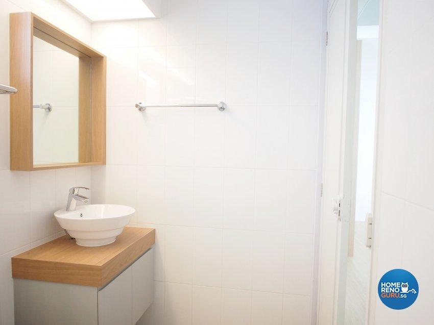 Minimalist, Scandinavian Design - Bathroom - HDB 5 Room - Design by The Minimalist Society Pte Ltd