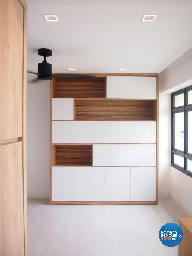 Minimalist, Scandinavian Design - Entertainment Room - HDB 4 Room - Design by The Minimalist Society Pte Ltd