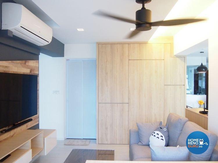 Minimalist, Scandinavian Design - Living Room - HDB 4 Room - Design by The Minimalist Society Pte Ltd