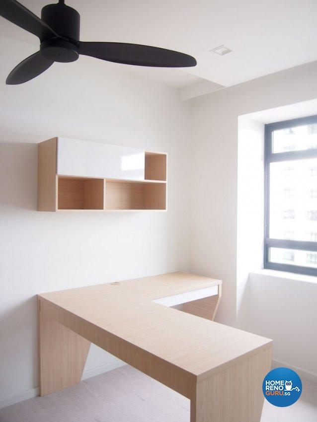 Minimalist, Scandinavian Design - Study Room - HDB 4 Room - Design by The Minimalist Society Pte Ltd