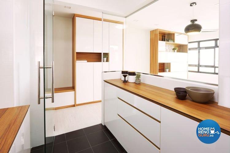Minimalist, Scandinavian Design - Kitchen - HDB 4 Room - Design by The Minimalist Society Pte Ltd
