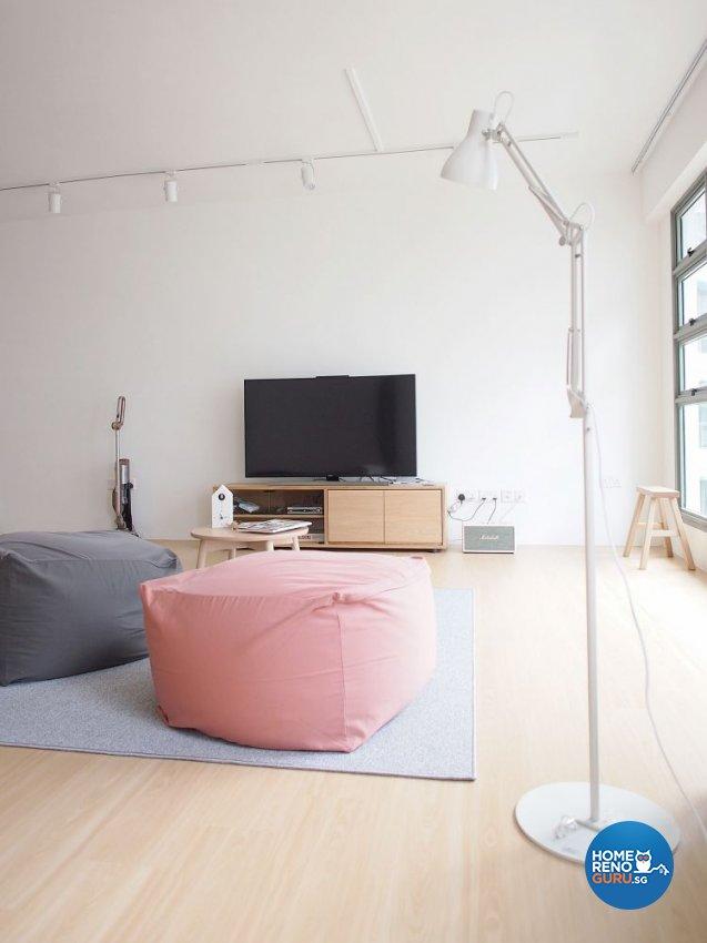 Minimalist, Scandinavian Design - Living Room - HDB 5 Room - Design by The Minimalist Society Pte Ltd
