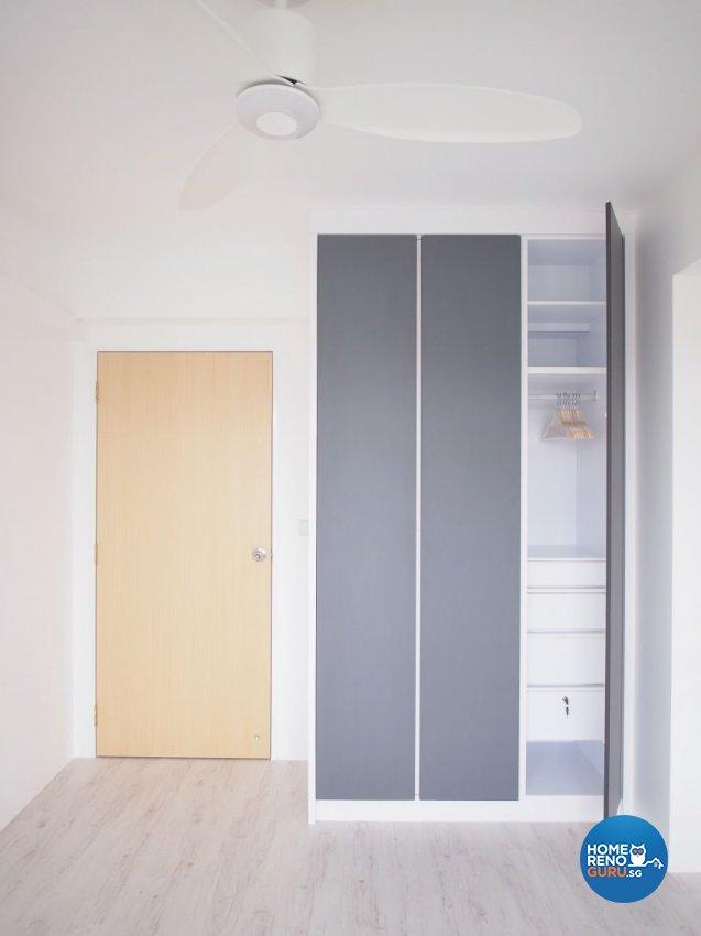 Minimalist, Scandinavian Design - Bedroom - HDB 5 Room - Design by The Minimalist Society Pte Ltd