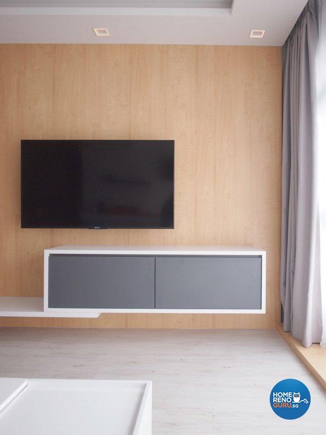 Minimalist, Scandinavian Design - Entertainment Room - HDB 5 Room - Design by The Minimalist Society Pte Ltd