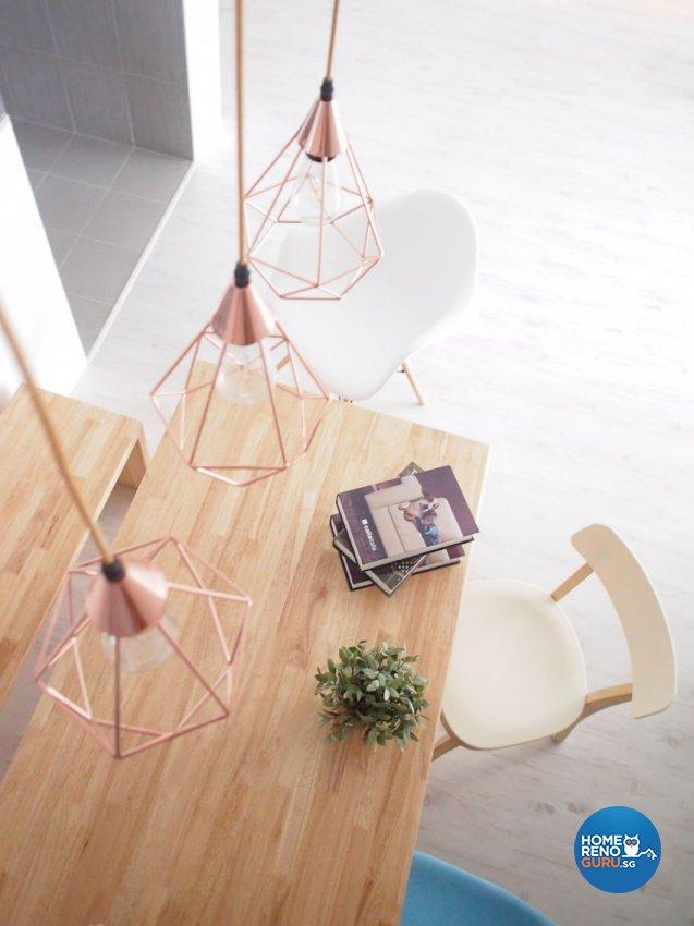 Minimalist, Scandinavian Design - Dining Room - HDB 5 Room - Design by The Minimalist Society Pte Ltd