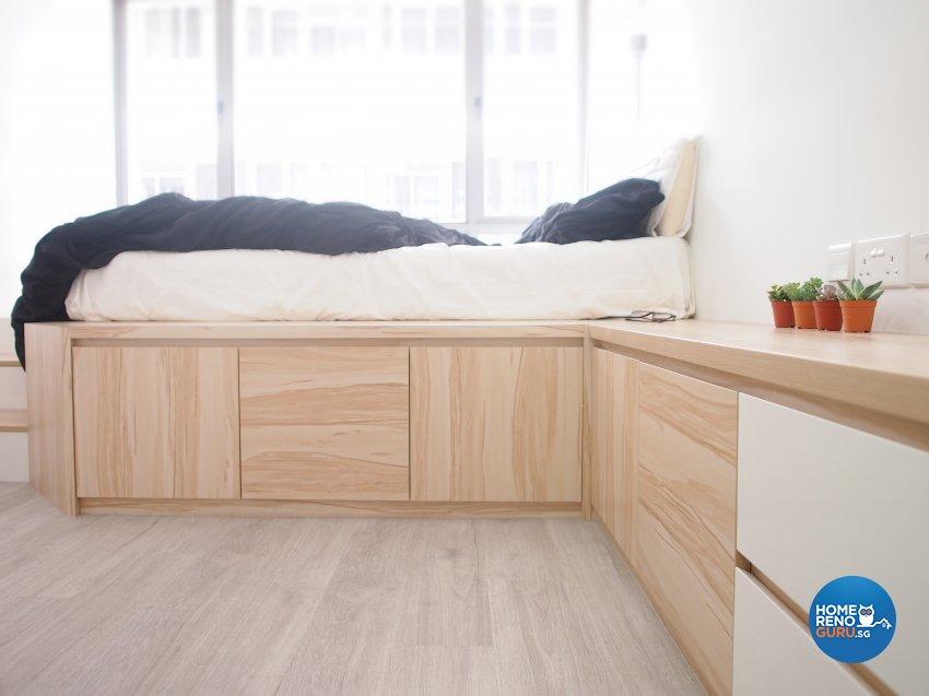 Minimalist, Scandinavian Design - Bedroom - Condominium - Design by The Minimalist Society Pte Ltd