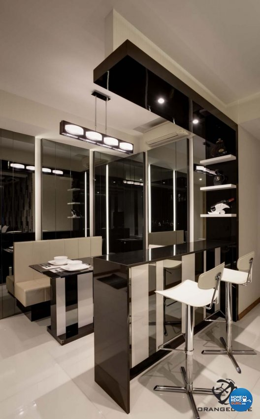 Contemporary, Modern Design - Dining Room - Condominium - Design by The Orange Cube Pte Ltd