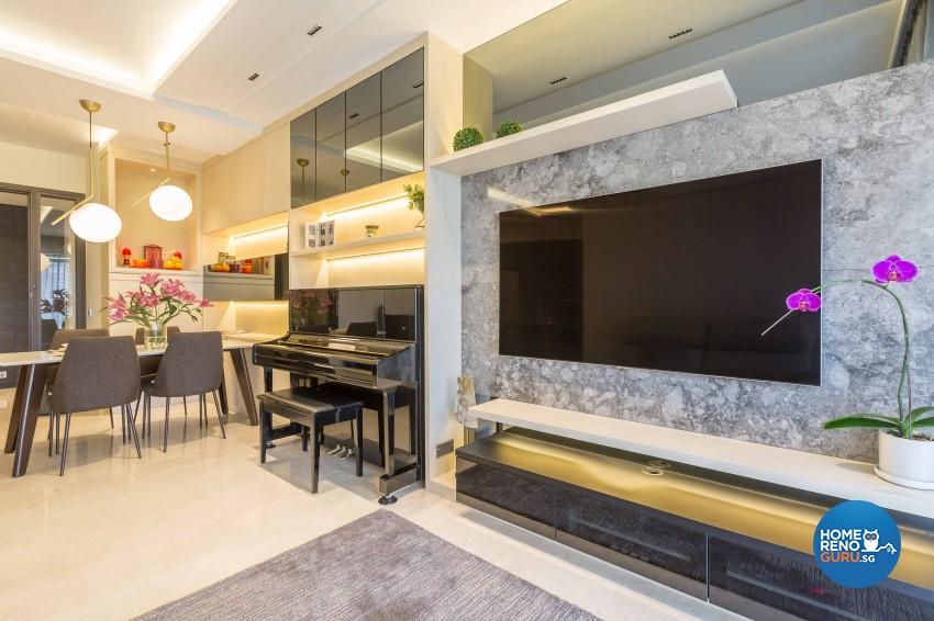Contemporary, Modern Design - Living Room - Condominium - Design by The Orange Cube Pte Ltd