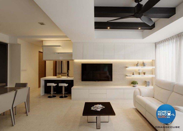 Minimalist, Modern Design - Living Room - Condominium - Design by The Orange Cube Pte Ltd