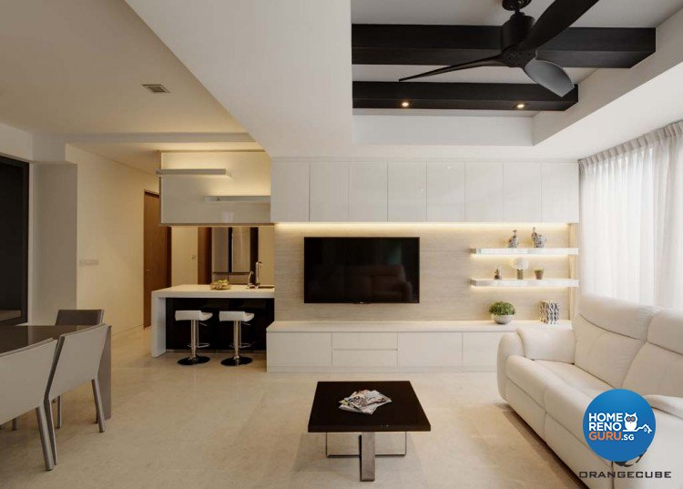 Minimalist, Modern Design - Living Room - Condominium - Design by The Orange Cube Pte Ltd