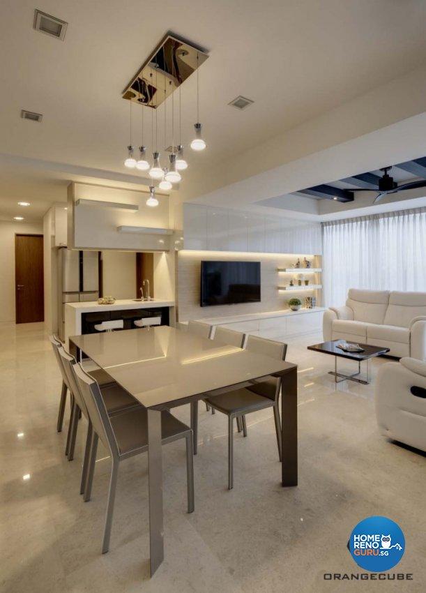 Minimalist, Modern Design - Dining Room - Condominium - Design by The Orange Cube Pte Ltd