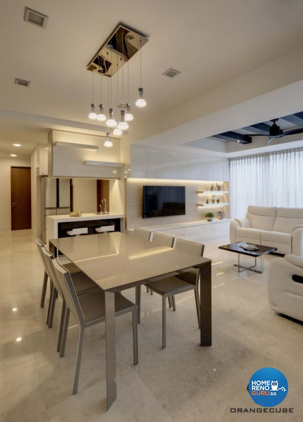 Minimalist, Modern Design - Dining Room - Condominium - Design by The Orange Cube Pte Ltd