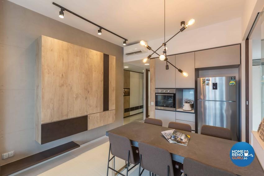 Industrial, Modern Design - Dining Room - Condominium - Design by The Orange Cube Pte Ltd