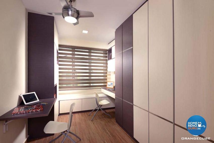 Contemporary, Modern Design - Study Room - HDB 4 Room - Design by The Orange Cube Pte Ltd