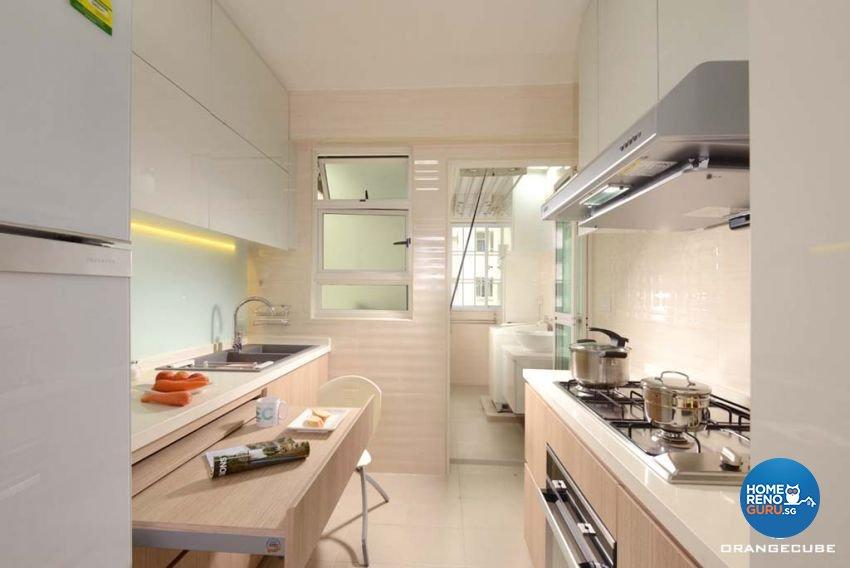 Contemporary, Modern Design - Kitchen - HDB 4 Room - Design by The Orange Cube Pte Ltd