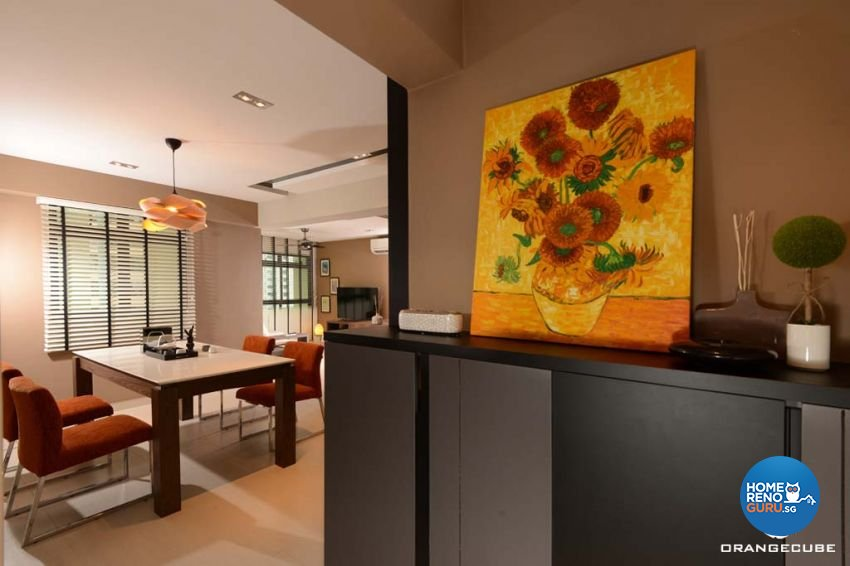 Contemporary, Modern Design - Dining Room - HDB 4 Room - Design by The Orange Cube Pte Ltd