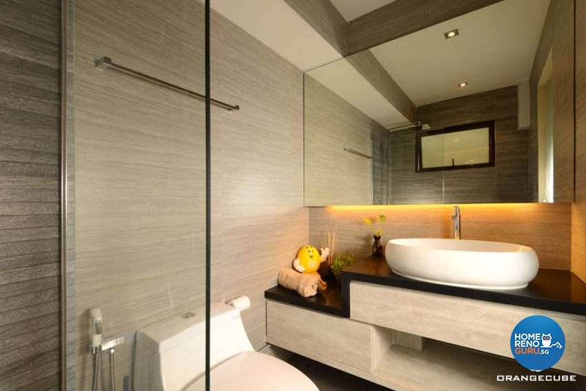 Contemporary, Modern Design - Bathroom - HDB 4 Room - Design by The Orange Cube Pte Ltd
