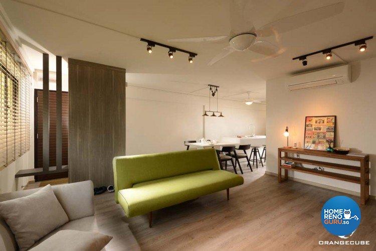 Minimalist, Scandinavian Design - Living Room - HDB 4 Room - Design by The Orange Cube Pte Ltd