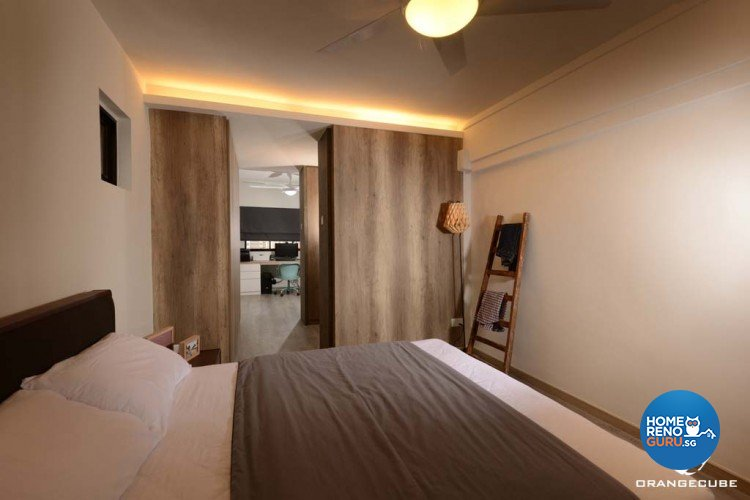 Minimalist, Scandinavian Design - Bedroom - HDB 4 Room - Design by The Orange Cube Pte Ltd