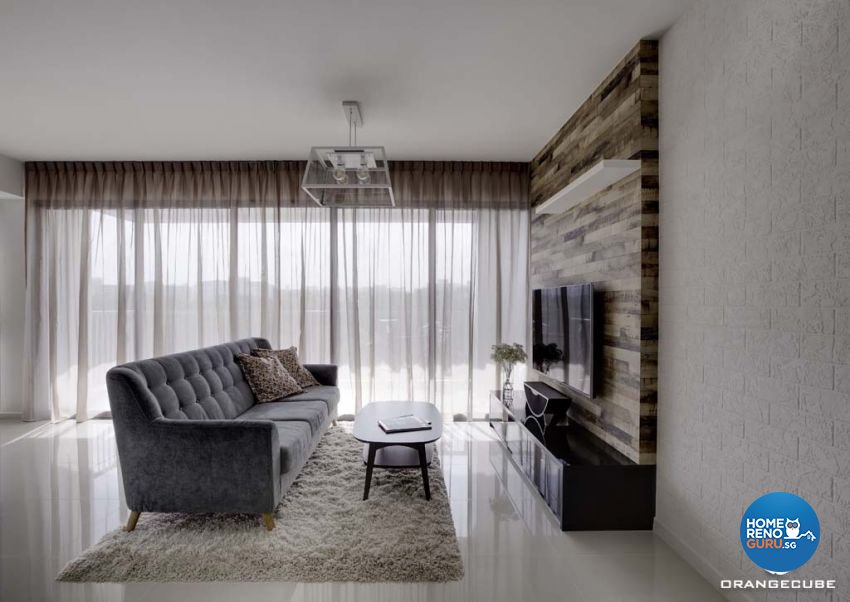 Contemporary, Scandinavian Design - Living Room - HDB 5 Room - Design by The Orange Cube Pte Ltd