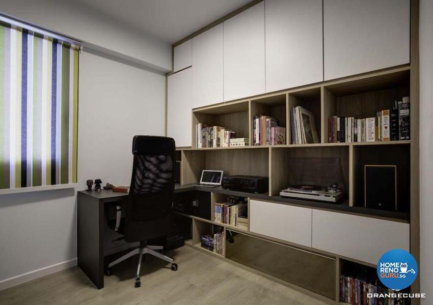 Contemporary, Scandinavian Design - Study Room - HDB 5 Room - Design by The Orange Cube Pte Ltd