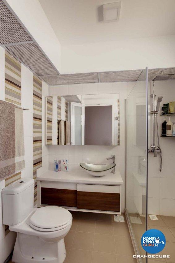 Contemporary, Scandinavian Design - Bathroom - HDB 5 Room - Design by The Orange Cube Pte Ltd