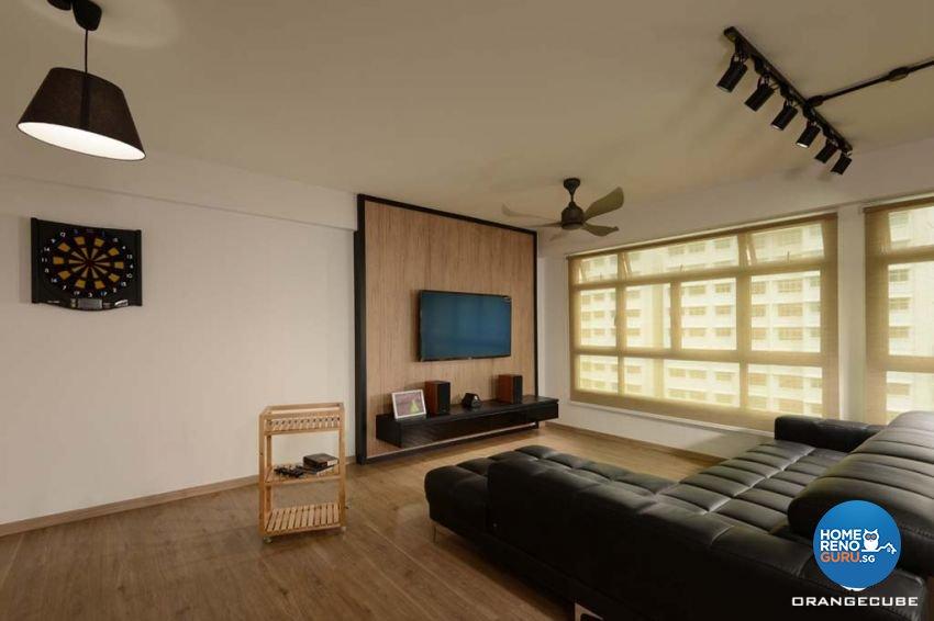 Industrial, Scandinavian Design - Living Room - HDB 5 Room - Design by The Orange Cube Pte Ltd