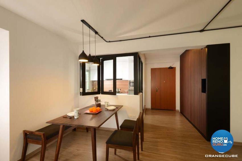 Industrial, Scandinavian Design - Dining Room - HDB 5 Room - Design by The Orange Cube Pte Ltd
