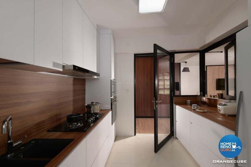 Industrial, Scandinavian Design - Kitchen - HDB 5 Room - Design by The Orange Cube Pte Ltd