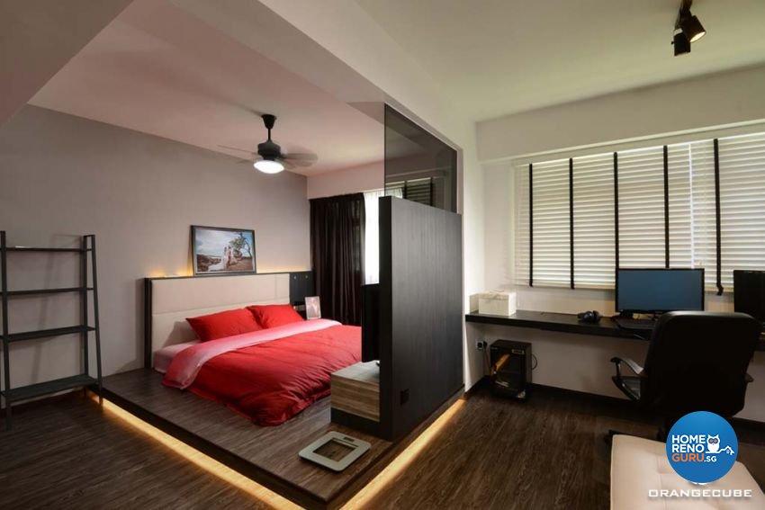 Industrial, Scandinavian Design - Bedroom - HDB 5 Room - Design by The Orange Cube Pte Ltd