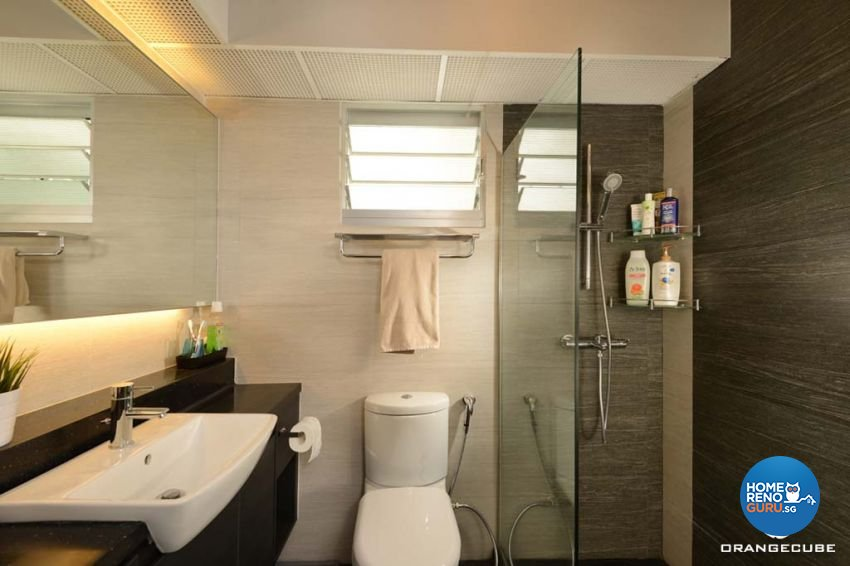 Industrial, Scandinavian Design - Bathroom - HDB 5 Room - Design by The Orange Cube Pte Ltd