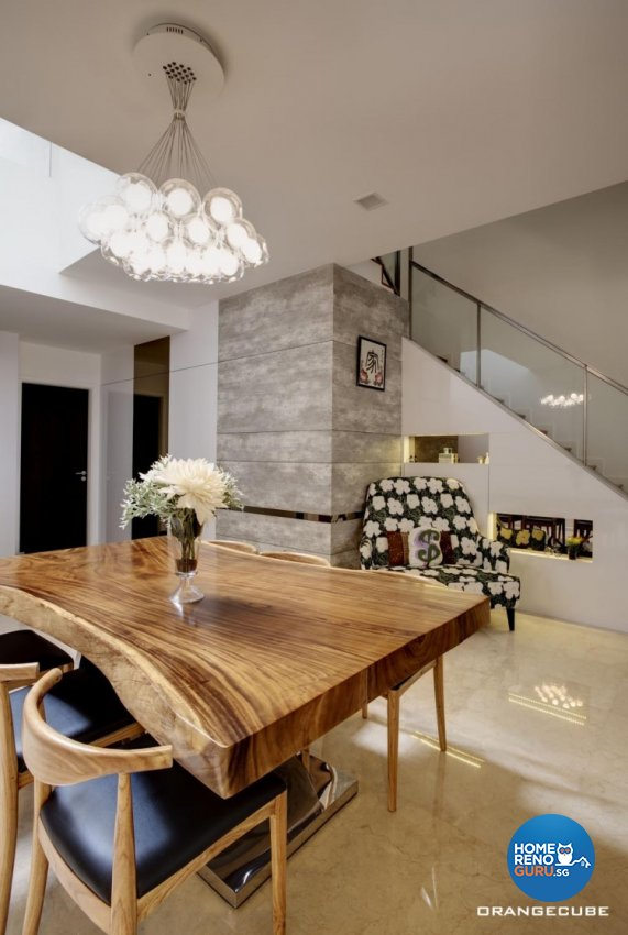 Contemporary, Modern Design - Dining Room - Landed House - Design by The Orange Cube Pte Ltd