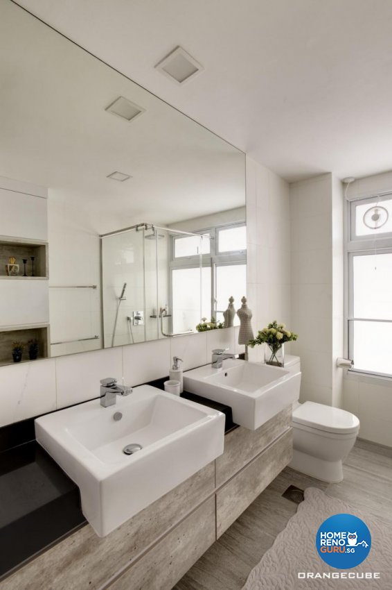 Contemporary, Modern Design - Bathroom - Landed House - Design by The Orange Cube Pte Ltd