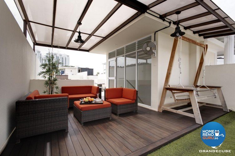 Contemporary, Modern Design - Balcony - Landed House - Design by The Orange Cube Pte Ltd
