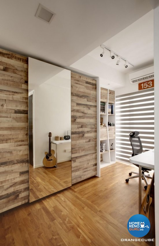 Contemporary, Modern Design - Study Room - Landed House - Design by The Orange Cube Pte Ltd