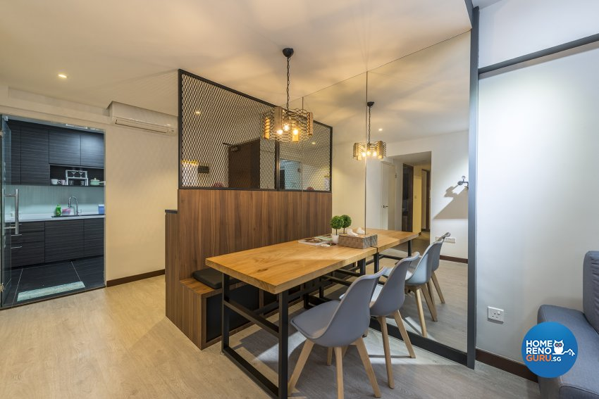 Industrial, Scandinavian Design - Dining Room - HDB 4 Room - Design by TBG Interior Design