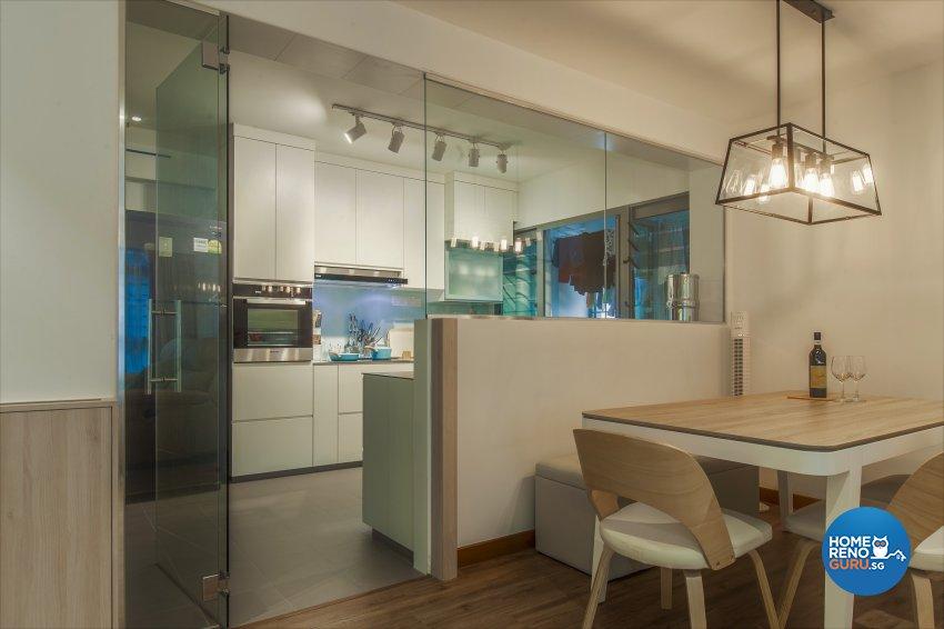 Minimalist, Resort Design - Dining Room - HDB 5 Room - Design by The Two Big Guys LLP